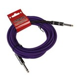 18.6' Purple Woven Guitar Cable