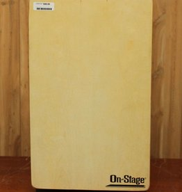 On-Stage Fixed Snare Cajon with Gig Bag