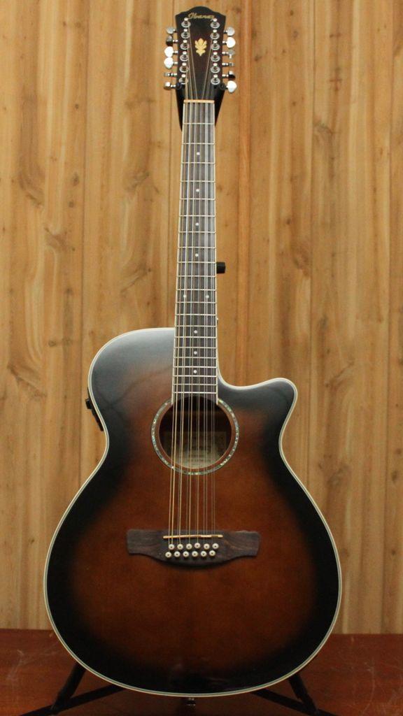 Ibanez Ibanez AEG 12-String Acoustic Electric Guitar in Dark Violin Sunburst
