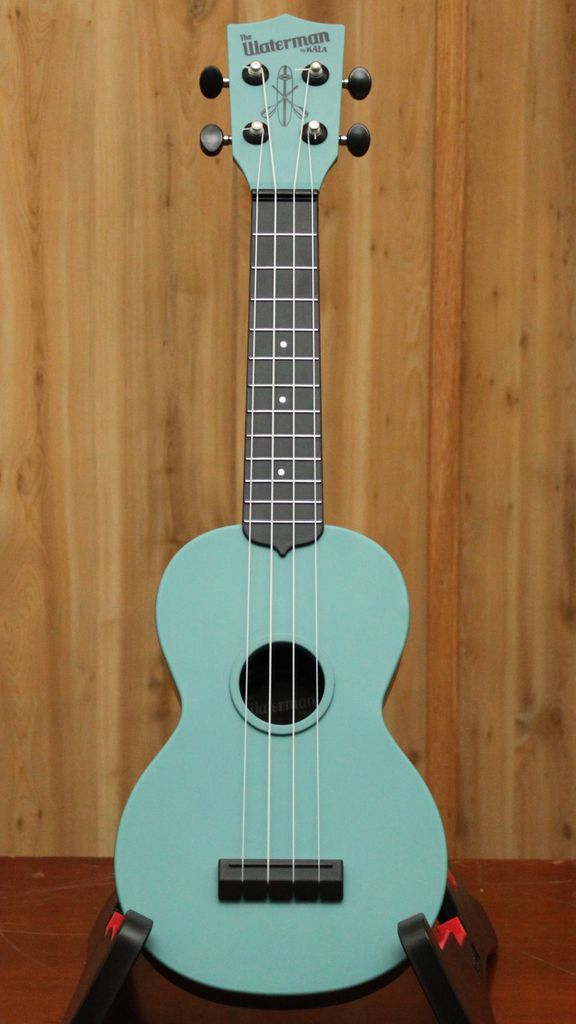 Kala Makala Glow-In-The-Dark Aqua Matte Soprano Ukulele - Waterproof! Perfect for camping or the beach!
