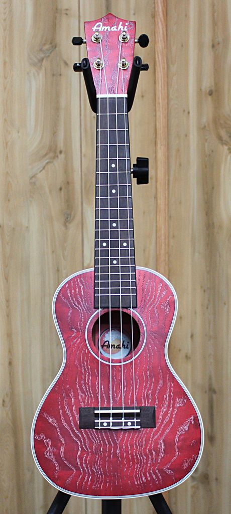 Amahi Amahi Red Quilted Ash Top, Back and Sides w/case