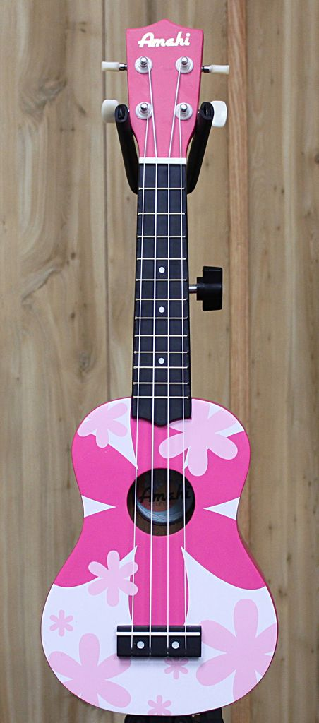 Amahi Amahi Ukulele with Pink Flower Design