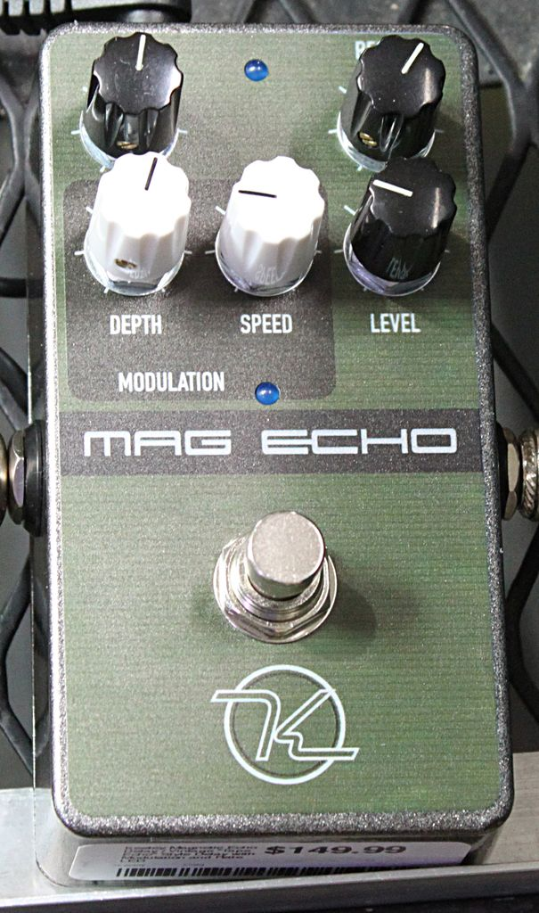 "Keeley Magnetic Echo Delay / Vintage ""Tape Echo"" Style Delay with Modulation and Rate LED"