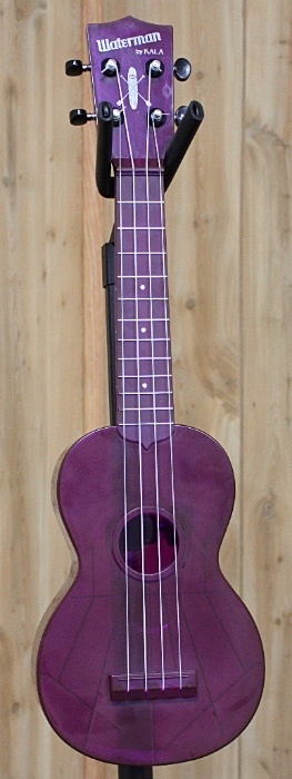 Kala Kala Waterman Fluorescent Purple Grape Soprano Ukulele- Waterproof! Perfect for camping or the beach!