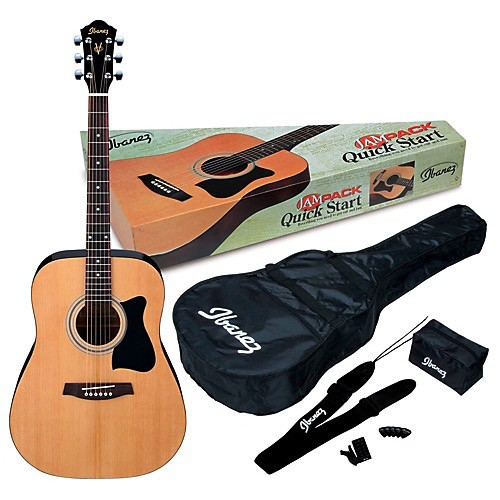 Ibanez Acoustic Dreadnought Package<br /> Includes Strap, Gig Bag, and Tuner