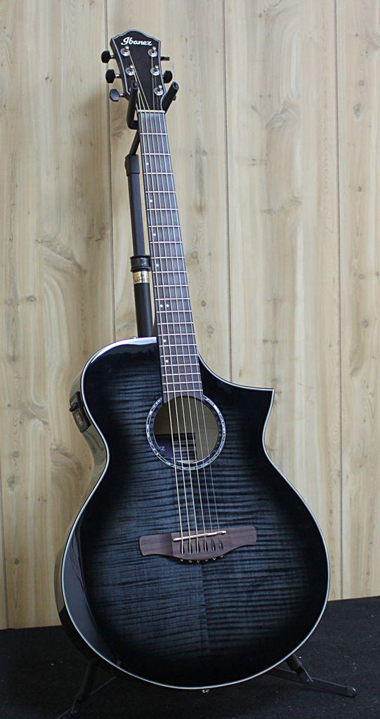 Ibanez Ibanez Artwood Acoustic Electric Guitar in Transparent Black Sunburst High Gloss