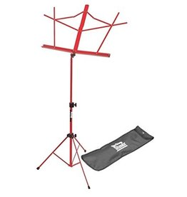 On Stage On Stage Sheet Music Stand w/ Carrying Bag —Red