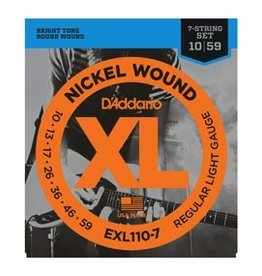 D'Addario D'Addario 7-string Regular Light Electric Strings .010-059