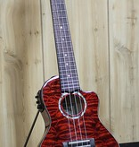 Lanikai Lanikai Quilted Maple Red Stain Concert Acoustic/Electric Ukulele w/gig bag