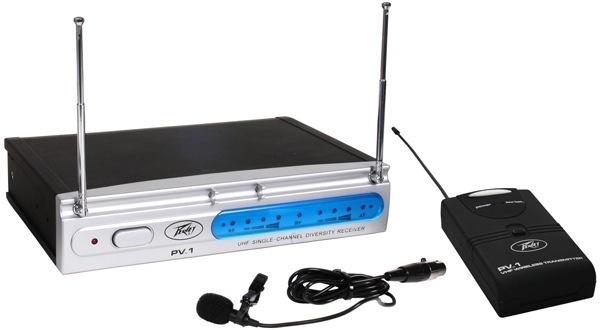 Peavey Peavey - PV1 Single Channel Wireless System w/ Lavalier Mic