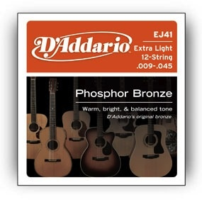 D'Addario D'Addario Extra Light 12-String Phosphor Bronze .009-.045