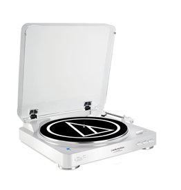 Audio Technica Audio Technica Fully automatic wireless belt-drive turntable, connects to devices with Bluetooth, white