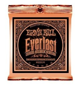 Ernie Ball Ernie Ball Everlast Coated Acoustic Guitar Strings Medium Gauge 13-56s