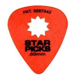 Star Picks .60mm Orange 12pk Picks