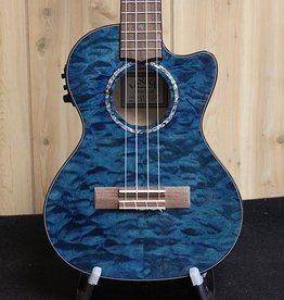 Lanikai Lanikai Quilted Maple Blue Stain Tenor Acoustic/Electric Ukulele w/gig bag