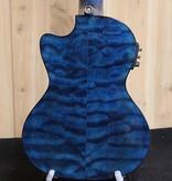 Lanikai Lanikai Quilted Maple Blue Stain Tenor Acoustic/Electric Ukulele w/gig bag