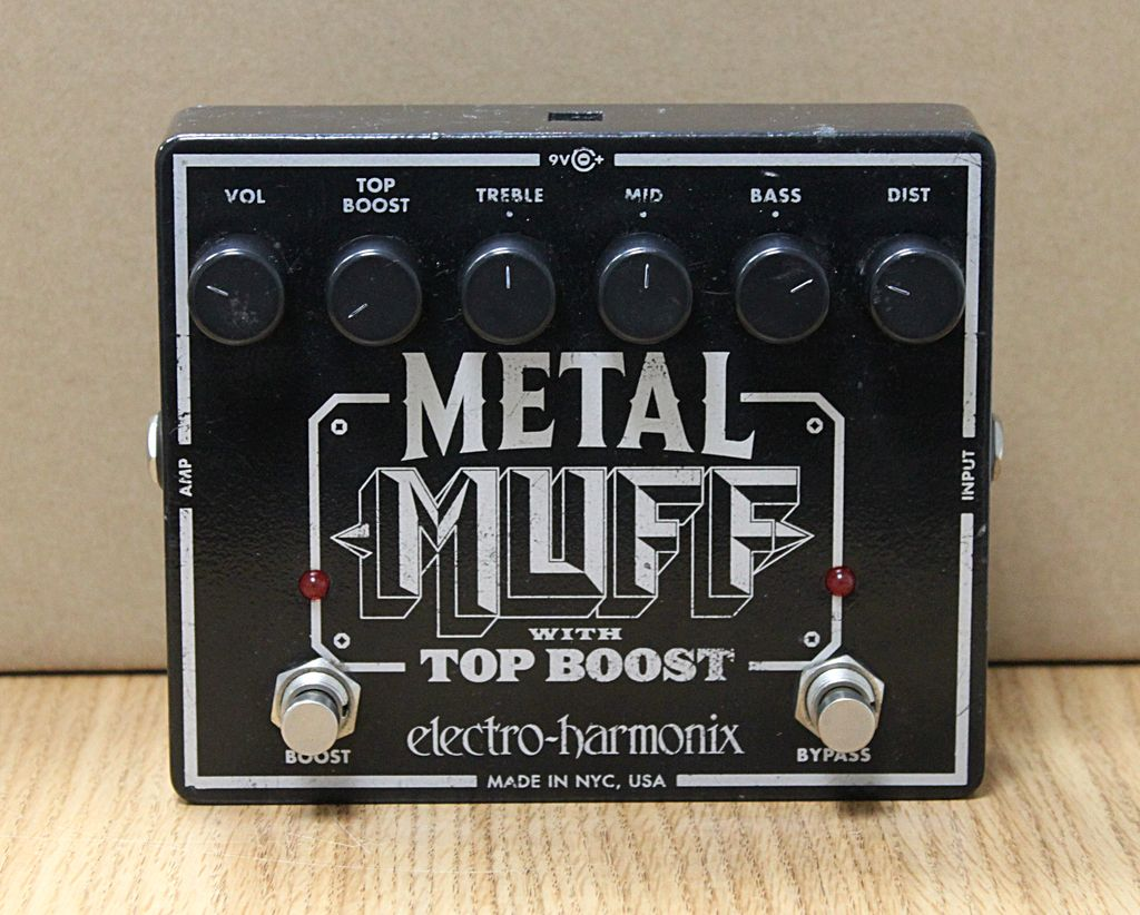 Used Metal Muff w/ Top Boost Effects Pedal