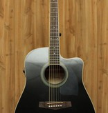 Ibanez Ibanez Performance Dreadnought Acoustic Electric Cutaway Guitar in Black High Gloss