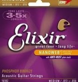 Elixir Elixir Nanoweb Phos Bronze Acoustic Guitar Strings MD 13-56