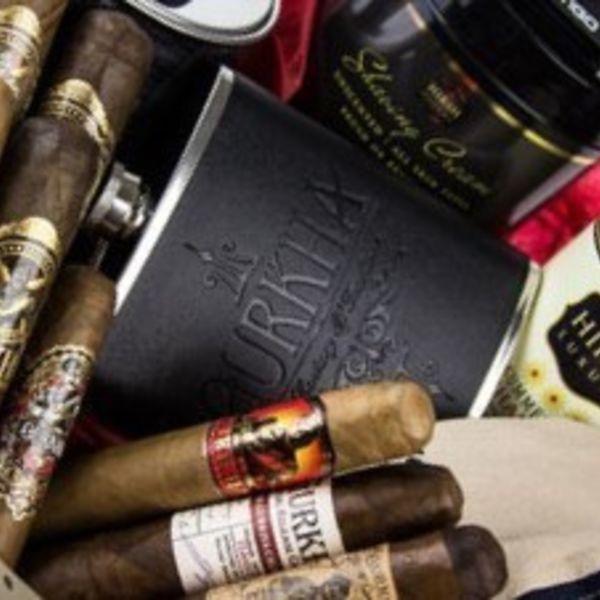 Gurkha Cigar Group, Inc Gurkha Leather Flask