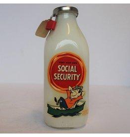 Social Security milk bottle