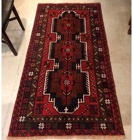 Hand-knotted tribal Balouchi carpet