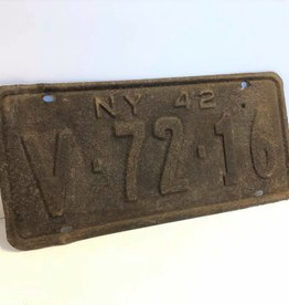 New York 1942 license plate