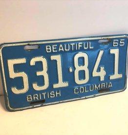 1965 BC license plate