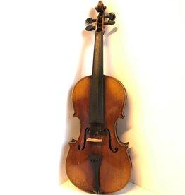 Antique violin in wooden case