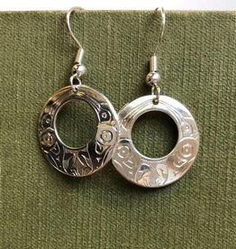 First Nations carved earrings