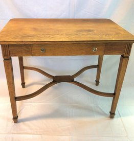 Tiger striped oak single drawer table