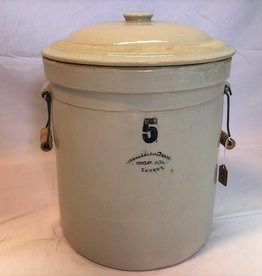 5 gallon Medalta crock with handles & lid
