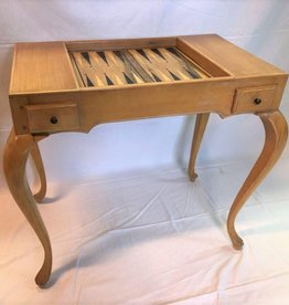 Games table with backgammon board