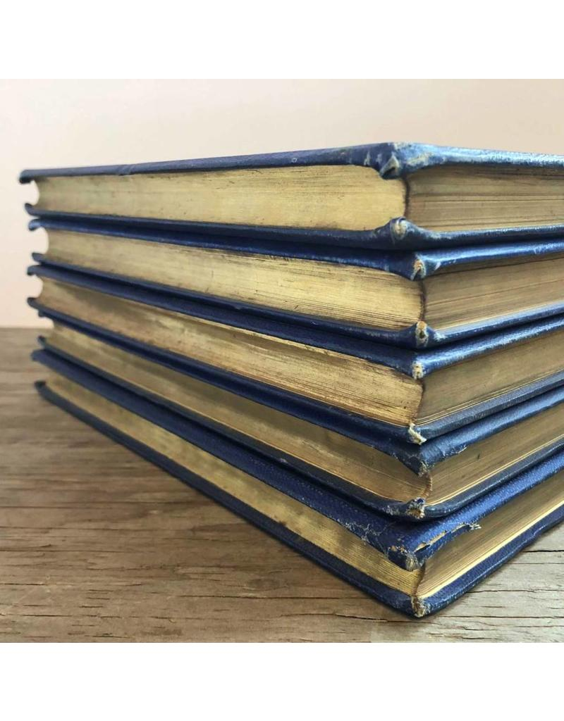 Book - Leaders of the Senate by A. C. Ewald, 1885, set of five volumes, blue covers with gilt