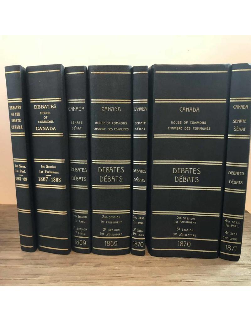 Book - Reconstituted Debates of the Canadian Senate, 1867-1871, seven volumes, hardcovers