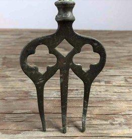 Antique brass toasting fork