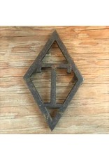 Trivet - cast iron, T diamond, sad iron