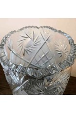 Vase - pinwheel sawtooth crystal vase