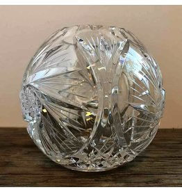 Pinwheel crystal rose bowl