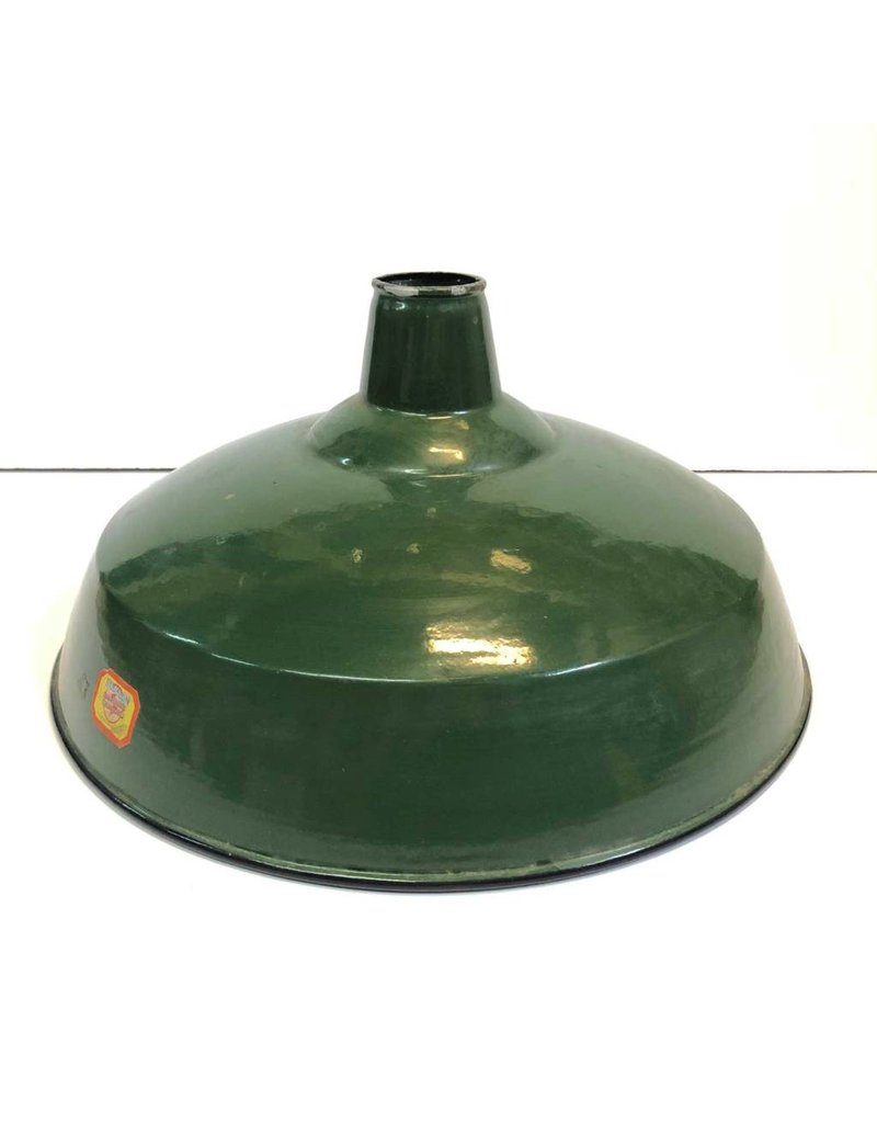 "Enamel lamp shade - Benjamin, green, 16"""