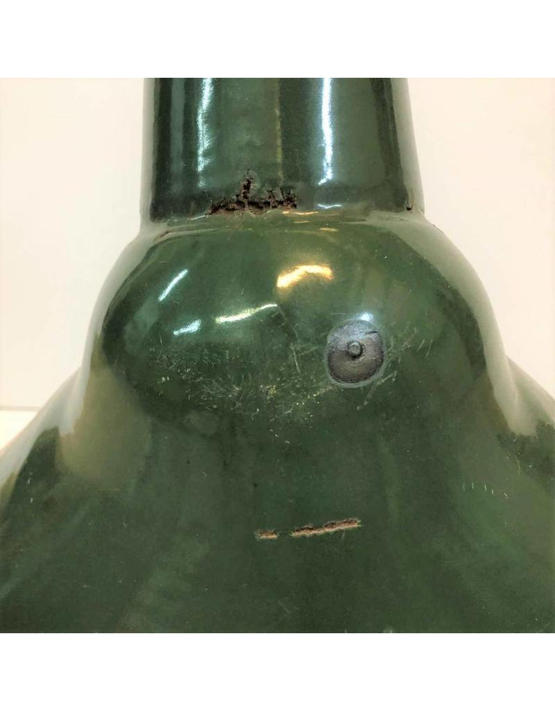 "Enamel lamp shade - unusual shape, barn/gas station shade, 19.5""x13.5"""