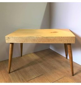 Spruce slab side table or entrance bench