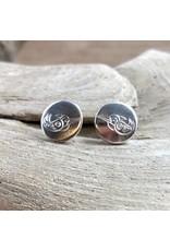Earrings - sterling silver studs, Matthew McKay, Hummingbird