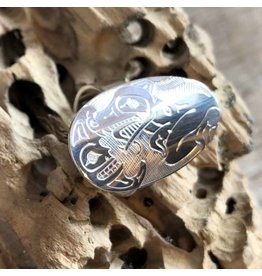 First Nations carved ring
