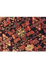 "Carpet - Persian, 10'1"" x 4'7"", dark blue background"