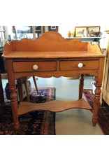 Pine washstand - two drawers