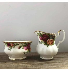Old Country Roses cream & sugar