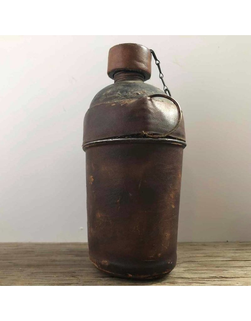 Canteen - flask, leather wrapped