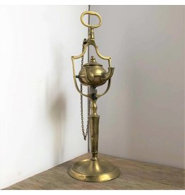 Brass whale-oil lamp