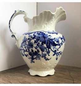 Flow blue pitcher
